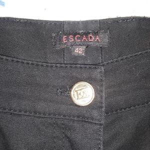 Escada black 5-pocket pants flared bottom